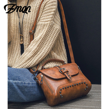 Crossbody Bags For Women Messenger Bags 2018 Vintage Leather Bags Handbags Women Famous Brand Rivet Small Shoulder