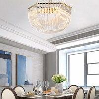 Modern Crystal Pendant Light For Living Room E14 Bulb Crystal Pendant Lamp Fixtures For Bedroom
