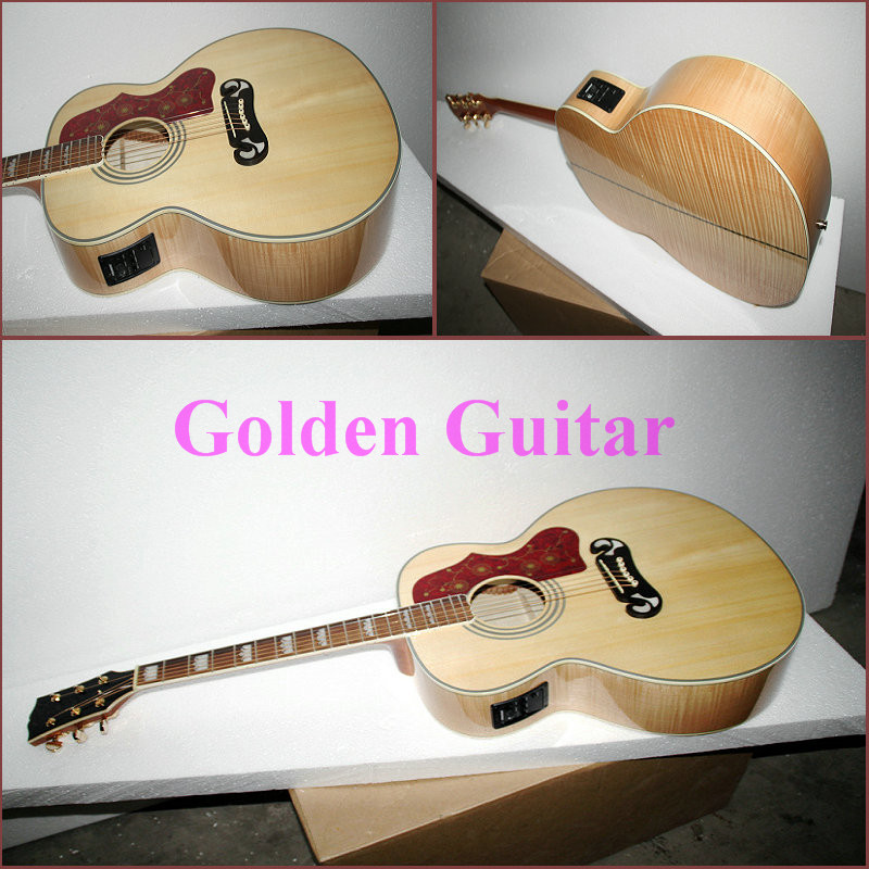 high ranking custom shop natural sj200 guitar sj200 acoustic electric guitar with fishman high. Black Bedroom Furniture Sets. Home Design Ideas