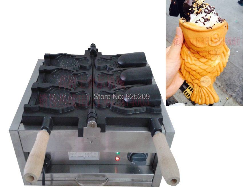 Free shipping ! Electric 3 pcs 110v 220v  Ice cream Taiyaki machine Buy machine free get 6 gifts free shipping cost 10 pcs gas type open mouth taiyaki grill ice cream taiyaki maker buy machine free get 6 gifts