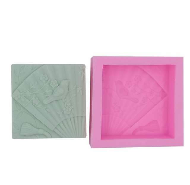 Bird Design Silicone Soap Mold Square Silicone Molds for Handmade Soap