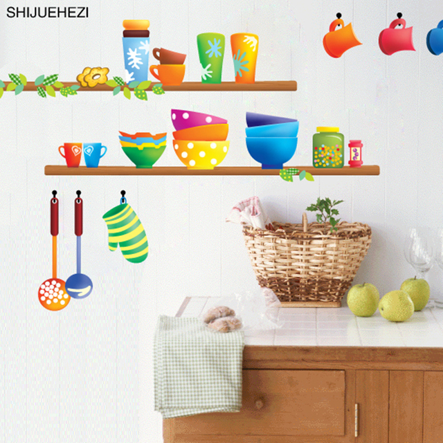 SHIJUEHEZI] Colorful Cucina Sticker Vinile DIY Cucina Wares Sticker ...
