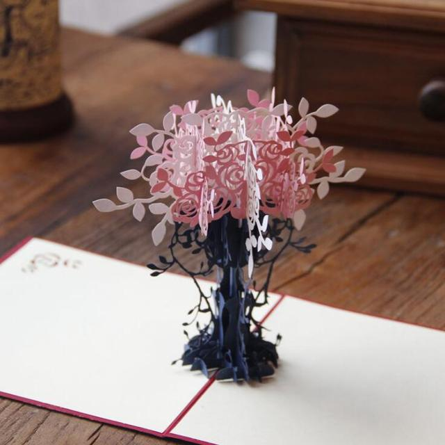 Greeting cards invitation paper pop up 3d flower tree for birthday greeting cards invitation paper pop up 3d flower tree for birthday wedding party decoration gift craft m4hsunfo