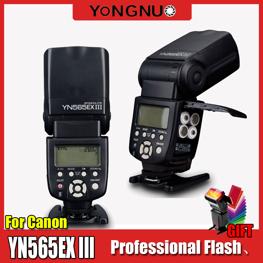 YN565EX III C Flash Yongnuo Wireless TTL Flash Speedlight YN 565EX III for Canon 650D 600D 550D 500D 1000D 1100D Newest-in Flashes from Consumer Electronics    1