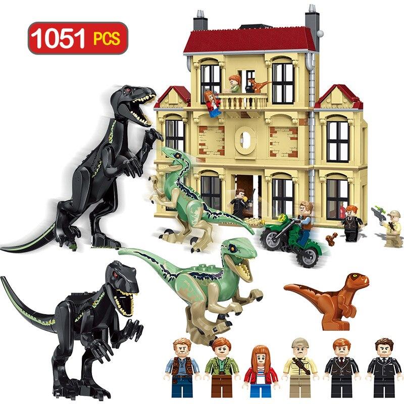Monde jurassique Dinosaure Indoraptor Saccage À Lockwood Immobilier Compatible LegoINGlys 75930 Building Block Jouets Pour Garçon 1046 pcs