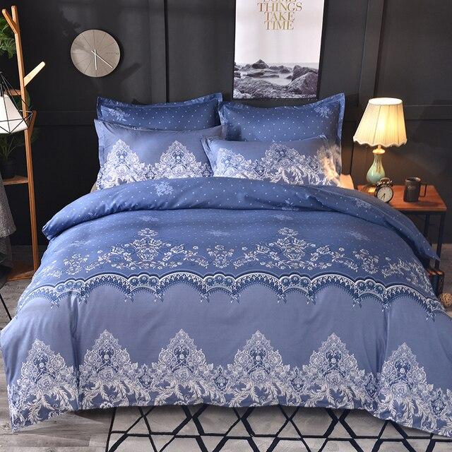 Lace Pattern Bedding Set 3pcs/2pcs Duvet Cover Pillowcase Pillow Sham Home Textile Adult King Queen Size No Sheet No Fillers 4