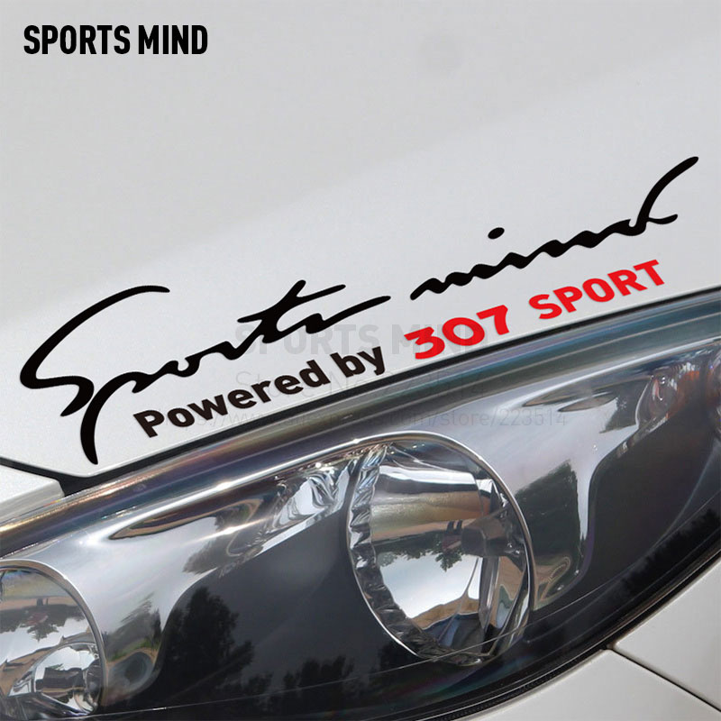 2 Pieces Sports Mind Car Styling On Car Lamp Eyebrow automobiles & motorcycles Car Sticker Decal For Peugeot 307 accessories
