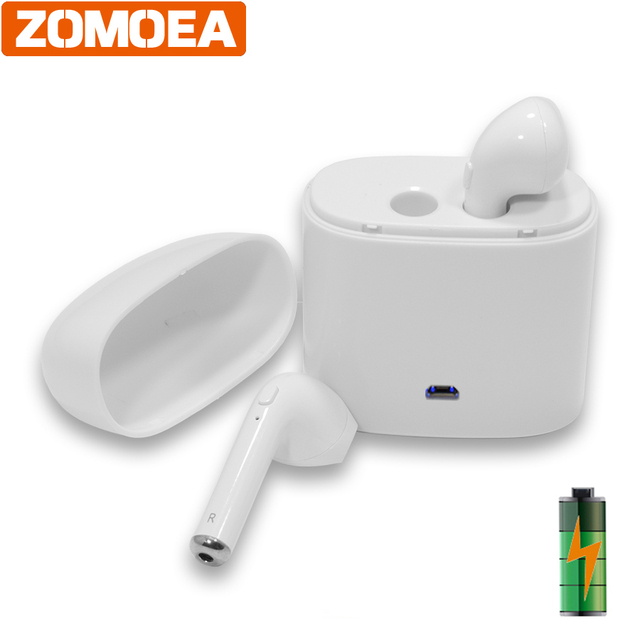 Bluetooth Earphone Play In Ear Earbuds with Microphone Noise Cancelling Headset for Phone Wireless Headset Handsfree Calls Mic