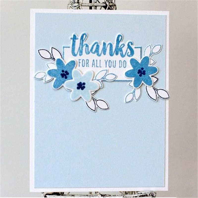 Flower Convenience Sign Circle Metal Cutting Dies and Clear Stamps New 2019 Die Cuts for Card Making Stitch Craft Troqueles