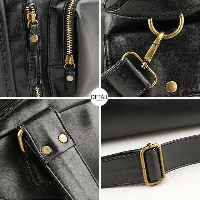 Male Bag England Retro Handbag Shoulder Bag Leather Men Big Messenger Bags Brand High Quality Men's Travel Crossbody Bag XA158ZC 6