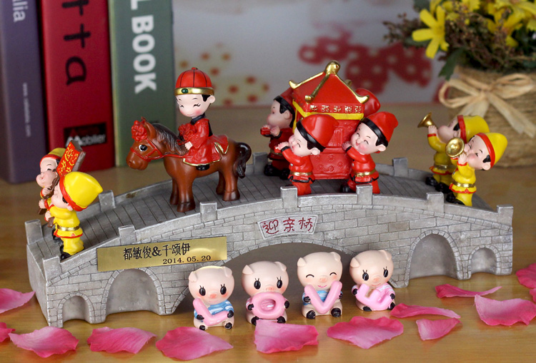 Cadeaux de mariage créatifs pour envoyer des filles fournitures de mariage pratiques haut de gamme de mode festive mariage chinois ornements artisanat