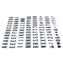 PPYY NEW -104pcs Cinematic Lightbox Replacement Letters & Numbers Signs black for A4 Light Up Letter Box Sign Message Board 65