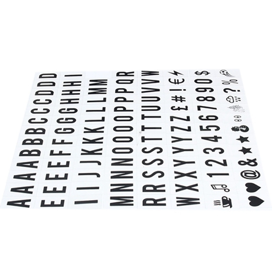 ppyy new 104pcs cinematic lightbox replacement letters numbers signs black for a4 light up