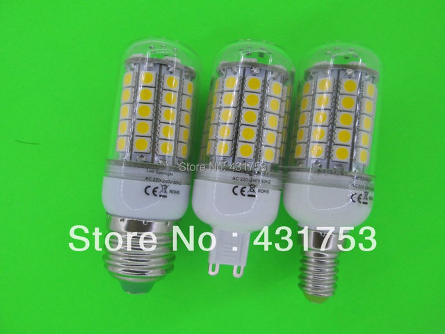 E14 220V Chip 69 LED Cool White Light Bulb Lamp 220V 12W ( High Brightness ) lights for home 5050 SMD