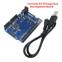 Free Shipping Electronics Integrated Circuit For Arduino Leonardo R3 Development Board With USB Cable Of DIY