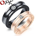 OPK Inlaid Cubic Zirconia Couple Rings I Need HIm Like I Need Air To Breathe Romantic Engagement Band Lover Jewelry ,GJ494