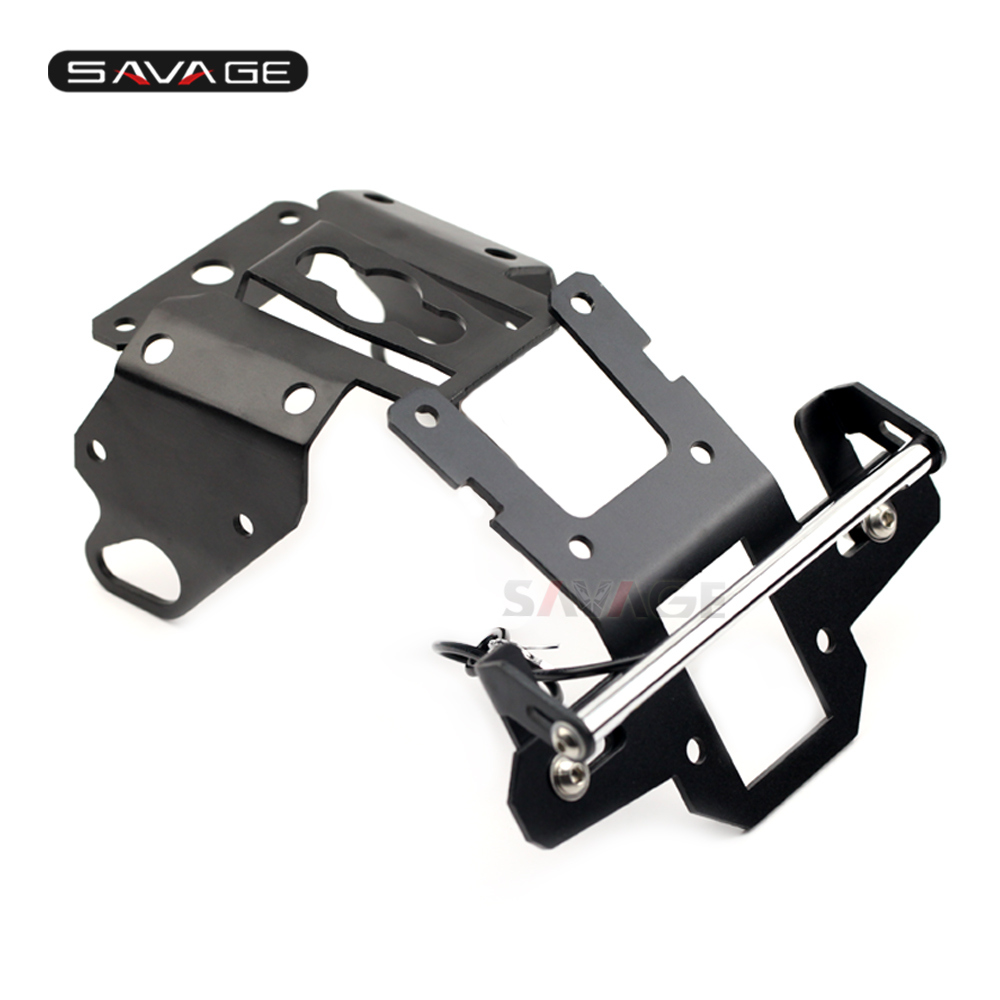 Registration License Plate Holder Frame For YAMAHA XSR900 XSR 900 2016 2017 2018 16 17 18 Fender Bracket Stand Support Tail Tidy fender amp stand small