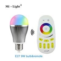 Nueva R60 Bombilla LED de la CA 220 V E27 Lámpara 2.4G Inalámbrica Wifi Control de smd 5730 Llevó el Bulbo 9 W RGBW RGBWW Spot luz