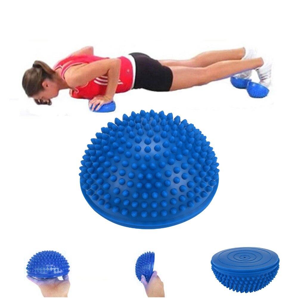 ec61da0e45 Meia Bola de Yoga Aptidão Física Aparelho massagem ponto de equilíbrio Bola  Exercício stepping stones vagens GYM YoGa Pilates bosu balance em Bolas  Para ...