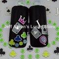 3 UNIDS Belleza Del Color Del Caramelo 3D Adhesivo Nail Art Sticker Calcomanías de Uñas consejos de Decoración de Manicura Herramientas El Ace Of Clubs Poker Diseño TA