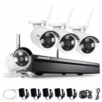 ANNKE 4CH 960P Wireless CCTV NVR Kit 4PCS 1 3MP Home Security WIFI IP Cameras Indoor