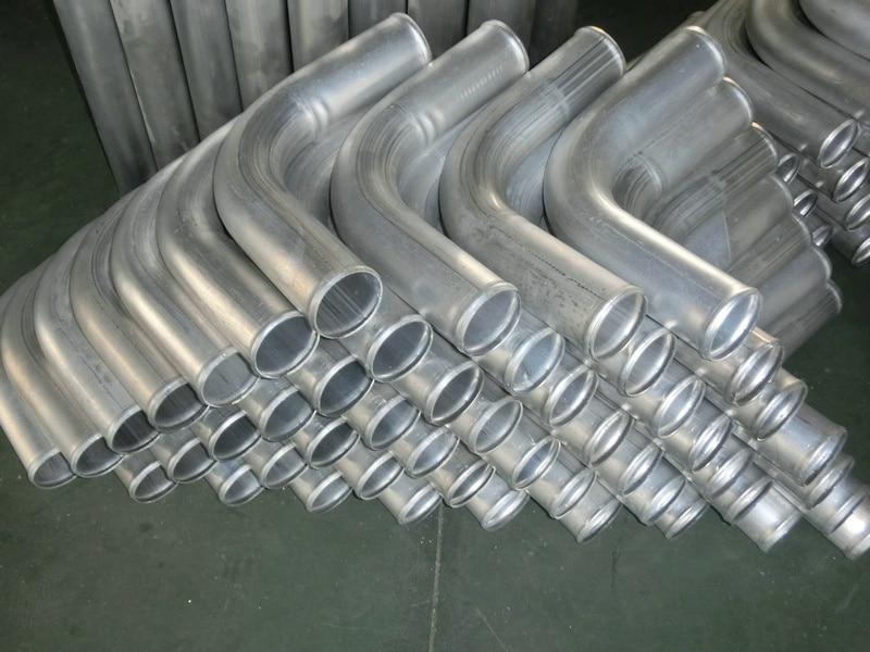"3/"" 76mm 90 Degree Aluminum Turbo Intercooler Pipe Piping Tube Tubing 600mm"