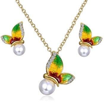 Women's Butterfly Design Jewelry Set Hot Promotions Jewelry Jewelry Sets Women Jewelry Metal Color: 2