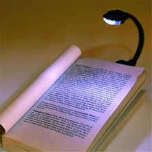 New Design 1 Pc Mini White LED Clip Booklight Portable Travel Book Reading Light Lamp