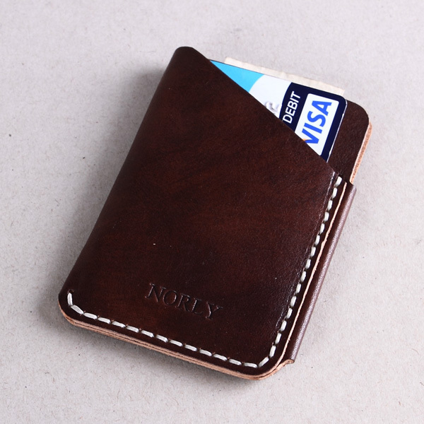 Italian vegetable tanned leather handmade card holder men business italian vegetable tanned leather handmade card holder men business card holder browncard sleeves with gift package in card id holders from luggage bags colourmoves