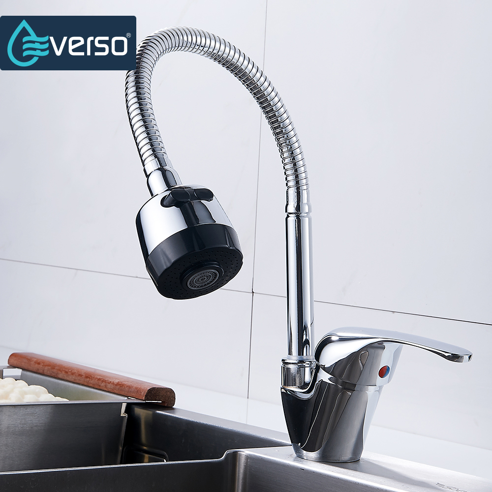 EVERSO 3 Files Kitchen Faucet Pull Out Spray Kitchen Mixer