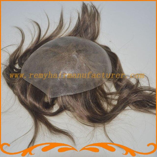 Мужской парик парик базовый размер 8*10 дюймов или другие вводят тонкую кожу БИО естественной границе волос remy волос парик бесплатная доставка