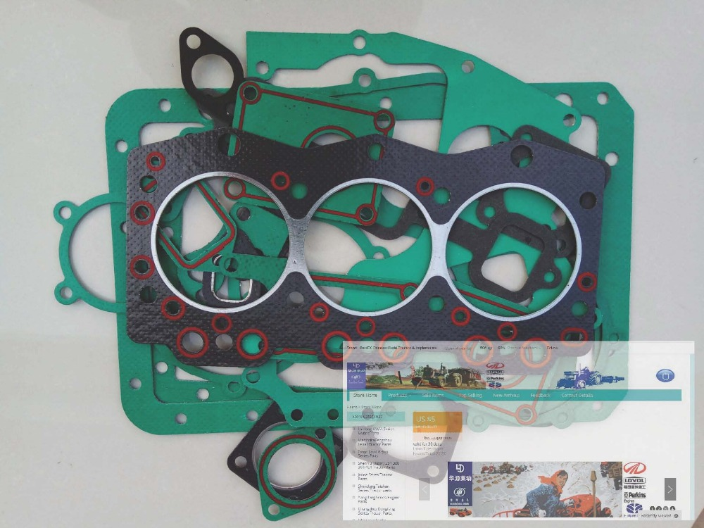 Changchai ZN390T engine parts, the custom-made gasket kit for the engine model, please check the engine nameplate with us 657 34280 complete full overhaul gasket kit for lpw lpws4 engine