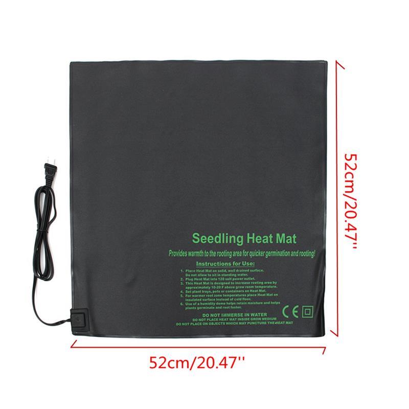 US $19 99 |52X52cm PVC Waterproof Seedling Heat Mat Plant Seed Germination  Mat For Propagation Cloning Starting Garden Tools 110V/220V-in Nursery Pots