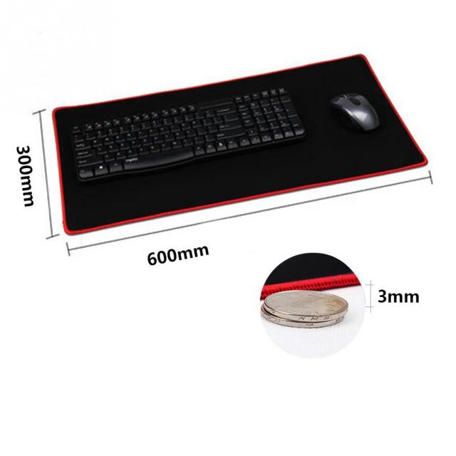 2016 New Rubber Huge Extra XL Large Size Gaming Mouse Pad Locked 600*300mm For Optical Trackball Laser Mouse Free