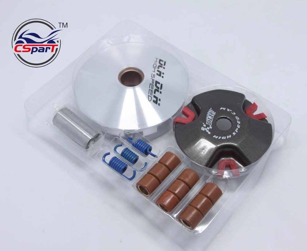 High Performance CVT Variator Kit with Roller Weights Drive Pulley for JOG 50CC 90CC Scooter Moped