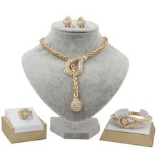 081712d153dd Joyería Árabe colgante nueva mujer conjuntos de joyas de oro collar  pendientes pulsera anillo encanto novia boda joyería al por .