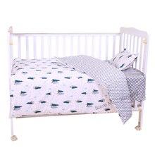 3 шт., детский хлопковый комплект постельного белья с наволочкой и пододеяльником