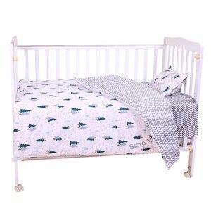 Image 1 - 3 шт., детский хлопковый комплект постельного белья с наволочкой и пододеяльником