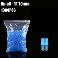 Blue 11mm TATTOO INK CUPS Caps 1000 Pcs Pigment Supplies Plastic Self Standing Ink Cups