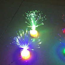 Фабричная прямая точка волокна маленькая Свеча Светодиодная лампа световое волокно свет маленькая свеча оптоволоконная Рождественская елка