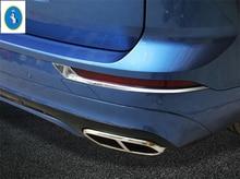 Yimaautotrims Accessorio Auto Chrome Posteriore Fendinebbia Illumina la Lampada Palpebra Sopracciglio Telaio di Copertura Trim 2 Pcs Misura Per Volvo XC60 2018 2019 ABS