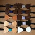 New Hot-venda de Cor Sólida gravata borboleta madeira Curva De Seda Laços Para Homens Presente de Natal DHL frete grátis