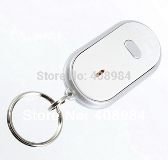 Honey Simply Whistle And This Key Fob Will Flash Led Light Torch Remote Sound Control Lost Key Finder Locator Keychain Remote Control Remote Controls