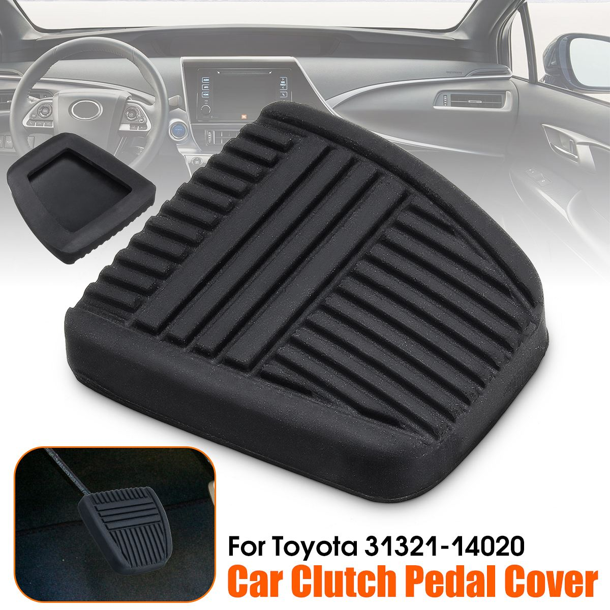 #31321-14020 #31321-14010 Black Brake Clutch Pedal Pad Rubber Cover Trans