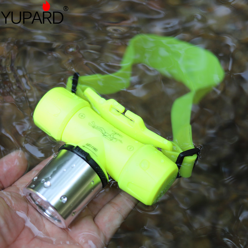 YUPARD  30m Diver Diving 18650 battery or 3x AAA  XM-L2  XM-L T6 led headlamp Flashlight Torch Waterproof Light Lamp outdoor title=