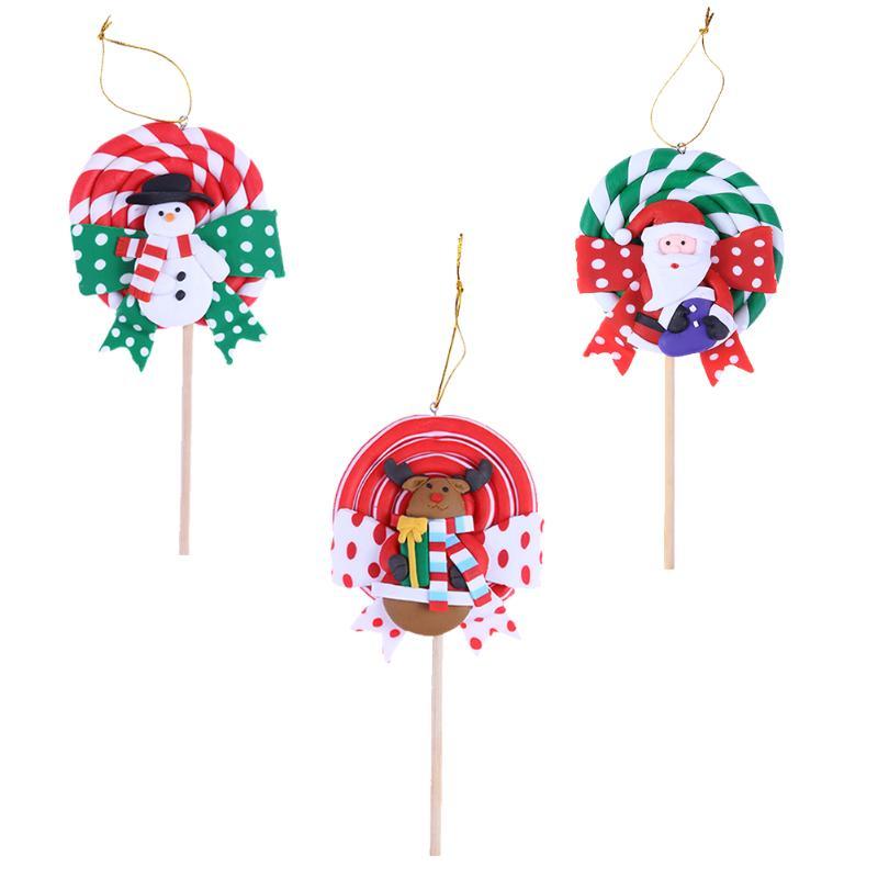 christmas lollipop handmade polymer clay candy for christmas tree decoration xmas pendant christmas decorations for home in pendant drop ornaments from - Lollipop Christmas Decorations