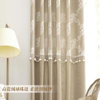 Jane Light Luxury Khmer Cashmere Custom Curtains For Living Dining Room Bedroom Afternoon Tea