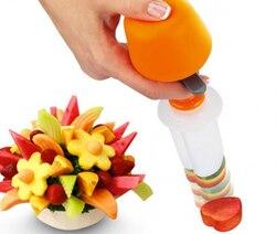 Creative DIY Plastic Presse Fruit Cutter Slicer Veggie Food Decorator Kitchen Gadgets Accessories Tools