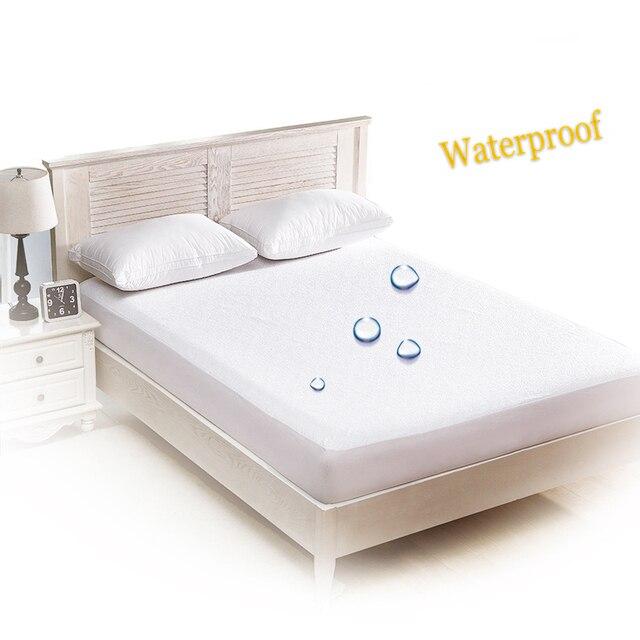 02c7c82a73fb9 أبيض غطاء السرير فراش للماء حامي فراش سادة شرشف منفصلة ملاءات المياه مرونة  غرفة الاطفال المفرش