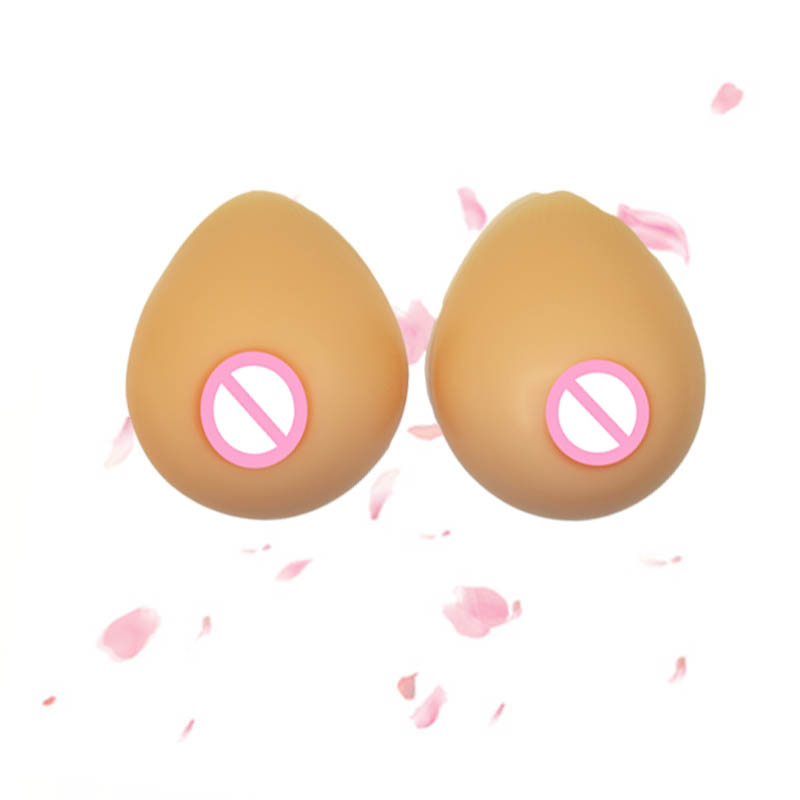 ONEFENG New Design Tear Drop Shape Breast Forms with Little Concave Backside for Cross Dressing Shemale